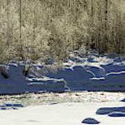 Winter Stream Near Hope On The Kenai Peninsula Alaska Art Print