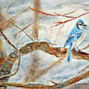 Winter Tree Hugger Art Print