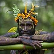 Witchdoctor In Ulul Village In New Art Print