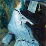Woman At The Piano Art Print