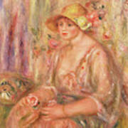 Woman In Muslin Dress, 1917 Art Print
