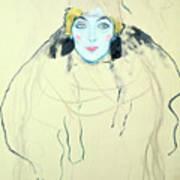 Womans Head Frauenkopf, 1917. Artist Art Print