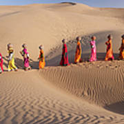 Women Fetching Water From The Sparse Art Print