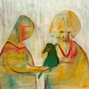 Women Holding A Bird Art Print