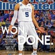 Won. Done. 2015 Ncaa Champions Sports Illustrated Cover Art Print