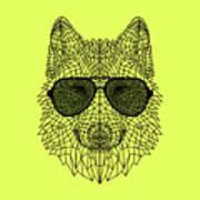Woolf In Black Glasses Art Print
