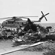 Wreckage Of American Helicopters Art Print