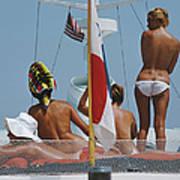 Yacht Holiday Art Print