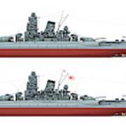 Yamato Class Battleships Port Side Art Print
