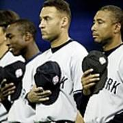 Yankees Listen To The National Athem Art Print