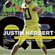 Year Of The Qb University Of Oregon Justin Herbert, 2019 Sports Illustrated Cover Art Print