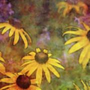 Yellow Among Purple 4234 Idp_2 Art Print