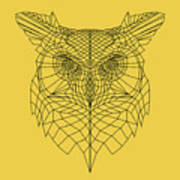 Yellow Owl Art Print