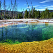 Yellowstone Hot Spring Art Print