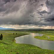 Yellowstone River In Hayden Valley Art Print