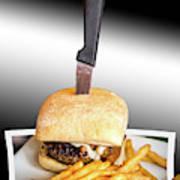 Yopper Burger Art Print