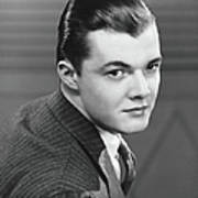 Young Man Wearing Pinstripe Jacket Art Print