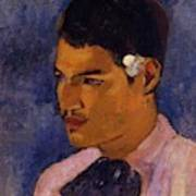 Young Man With A Flower Behind His Ear 1891 Art Print