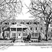 Zeta Tau Alpha Sorority House, Purdue University, West Lafayette, Indiana, Fine Art Print Art Print