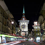 Zytglogge Tower At Night Art Print