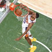 2021 NBA Playoffs - Phoenix Suns v Milwaukee Bucks Art Print