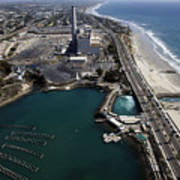 Aerial Views Of Construction On The Carlsbad Desalination Plant Art Print