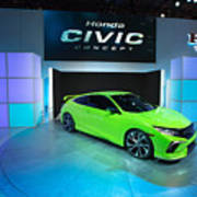 Automakers Showcase New Models At New York International Auto Show Art Print