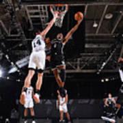 Brooklyn Nets v San Antonio Spurs Art Print