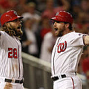 Daniel Murphy and Jayson Werth Art Print