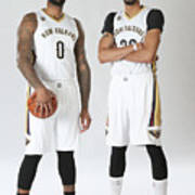 Demarcus Cousins and Anthony Davis Art Print