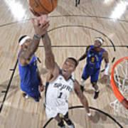 Denver Nuggets v San Antonio Spurs Art Print