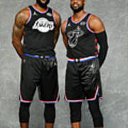 Dwyane Wade and Lebron James Art Print