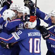 Finland v France - 2017 IIHF Ice Hockey World Championship Art Print