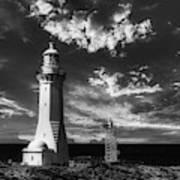 Green Cape Lighthouse At Sunset Art Print