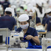 Inside The Vietnam-Singapore Industrial Park As Most Companies Affected By Anti-China Protests Resume Operations Art Print