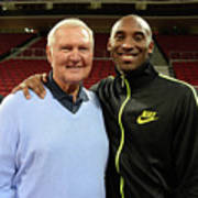 Jerry West and Kobe Bryant Art Print