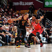 Kyle Lowry and George Hill Art Print