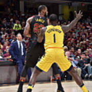 Lance Stephenson and Lebron James Art Print