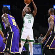 Los Angeles Lakers v Boston Celtics Art Print