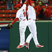 Matt Holliday and Jon Jay Art Print
