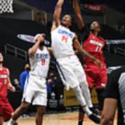 Miami Heat v Los Angeles Clippers Art Print