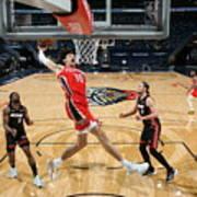 Miami Heat v New Orleans Pelicans Art Print