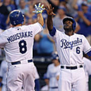 Mike Moustakas And Lorenzo Cain Art Print