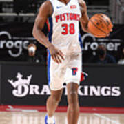 Milwaukee Bucks v Detroit Pistons Art Print
