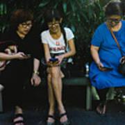 People Using Cellphones Art Print