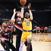Portland Trail Blazers v LA Lakers Art Print