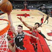 San Antonio Spurs vs. Chicago Bulls Art Print