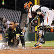 Starling Marte and Buster Posey Art Print