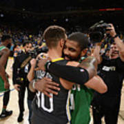 Stephen Curry and Kyrie Irving Art Print