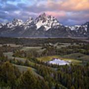Teton Overlook Art Print